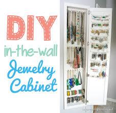 wall jewelry storage. Exellent Storage DIYinthewalljewelrycabinetstorage In Wall Jewelry Storage A