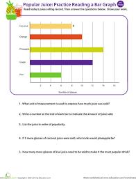 Juice Time Practice Reading A Bar Graph Bar Graphs 3rd