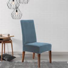 blue chair slipcover.  Chair Shop Sure Fit Stretch Pinstripe Dining Room Chair Slipcover  Free Shipping  On Orders Over 45 Overstockcom 10296079 Inside Blue R