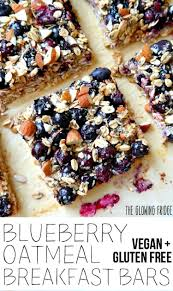 VEGAN & GF. 'Blueberry Oatmeal Breakfast Bars' that are wholesome, super  clean, nutritionally balanced, … | Oatmeal breakfast bars, Vegan breakfast  recipes, Recipes