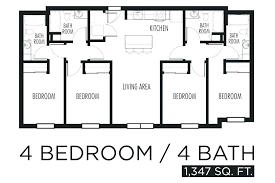4 bedroom floor plans floor plans of a house simple 4 bedroom floor plans house plan