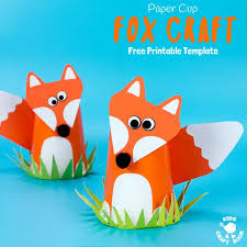 Free Craft Printables Templates Free Printable Paper Cup Fox Craft Template Kids Craft Room