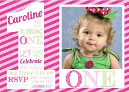 first birthday one invitations