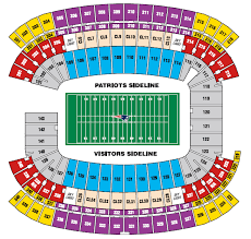 Stubhub Fenway Seating Chart Gillette Stadium Foxboro Ma Seating Charts Page