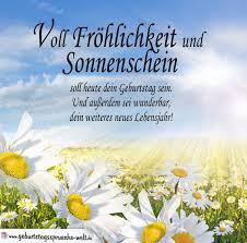 Spruch Zum Geburtstag Voll Fröhlichkeit Und Sonnenschein