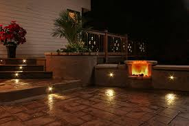 in concrete lighting. add a luxurious feel to your concrete deck or patio led lighting shown embedded in stamped