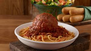 olive garden debuts giant italian classics including spaghetti with softball sized meatball