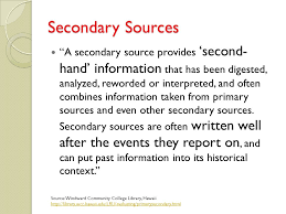 Secondary Sources - Francine