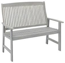 jack post 47 25 x28 75 x40 25 gray wire brush finish bench transitional outdoor benches by jensen byrd co inc