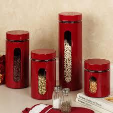 Red Kitchen Accessories Kitchen Ceramic Stoneware Canisters With Birch Lane Bantam