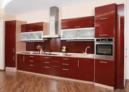 Small Picture Pictures of Kitchens Modern Red Kitchen Cabinets
