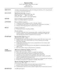 Resume Objective Statement Example Compatible Photograph Sample