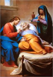 Image result for death of st joseph  painting