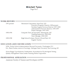 Sample Resume Employee Training p1 Sample Resume Employee Training p2