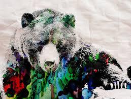 Rainbow Bear Watercolor Print Poster Painting By Robert R Splashy
