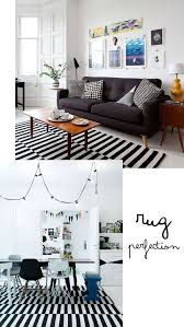 black white striped rugs