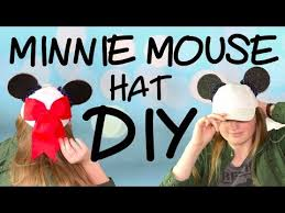 minnie mouse hat diy no sew