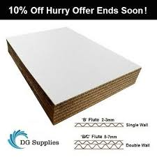 details about white cardboard corrugated sheets pads divider art craft board a5 a4 a3 a2 a1 a0