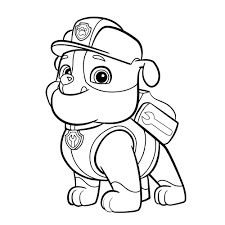 Paw Patrol Rubble Coloring Pages Printable