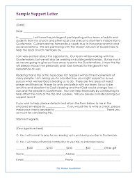 Long Term Missionary Support Letter Template How To Write A Letter