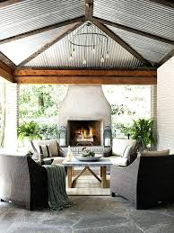 covered patio with fireplace screened porch fireplace ideas