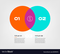 Infographic Venn Diagram Venn Diagram Infographics For Two Circle Design