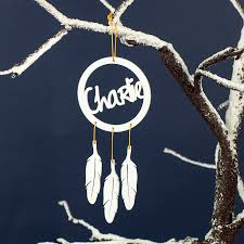 Personalised Dream Catcher Christmas Decoration