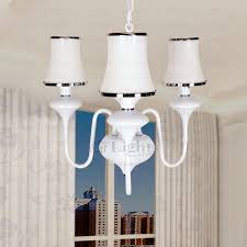 best 3 light white glass shade chandelier painting