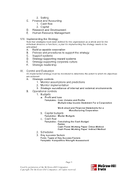 strategic plan outline template 8 strategic plan outline