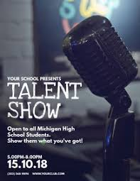 150 Talent Show Customizable Design Templates Postermywall
