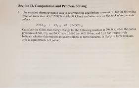 chemistry archive com computation and problem solving 1 use standard thermodynamic data to determine the