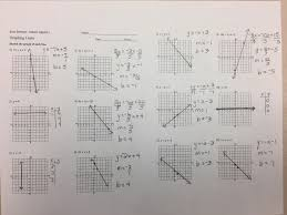 assignment worksheet answers graphing lines