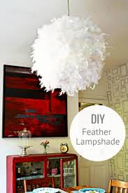 Make your own gorgeous DIY feather lampshade. This simple IKEA hack will  add a touch