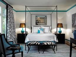 Black White Blue Bedroom Ideas