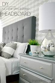 diy upholstered headboard with a high end look with cleats