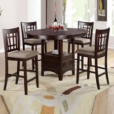 dining room chairs counter height. frolax 5 pcs rosy brown leaf round table cushion seat chair counter height dining set room chairs t