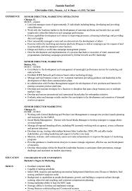 Senior Director Marketing Resume Samples Velvet Jobs