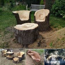 Turn Logs And Stumps Into Furniture With Some Chainsaw Skills - Amazing  Interior Design