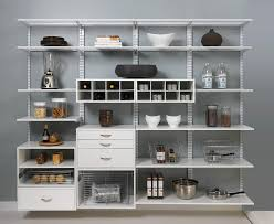 Organized Kitchen Component Shelf Spaces With Dream Pantry Kitchen Shelving
