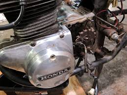 cb350 k3 winter project my first is that what it s called toughest job so far i ve also had the crankcase and left side engine covers off but they re back on so i don t lose track of