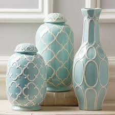 Decorative Jars And Vases Set of 100 Decorative Blue and White Jars 2