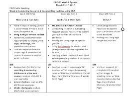 Firc Speech Q3 Week 6 Mla Documentation Requirements For