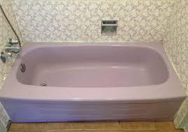 before lilac bathtub