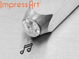 music note stamp impressart music note design stamp 6mm cooksongold com