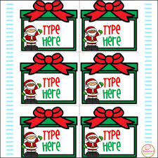 Editable Labels Christmas Labels With Santa