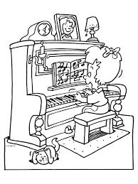 Piano Spelen раскраска музыкальные инструменты Kleurplaten