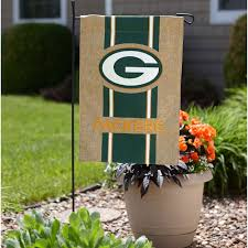 burlap garden flag. Green Bay Packers Team Burlap Garden Flag N