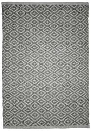 silver grey natural wool woven rug rugs flat uk