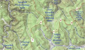 Modified Topographic Map From Usgs National Map Website