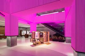 view inside the led pillars of the san francisco t mobile signature